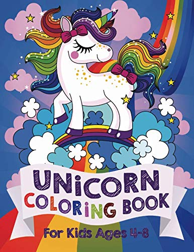 Unicorn Coloring Book: For Kids Ages 4-8 (US Edition)]()