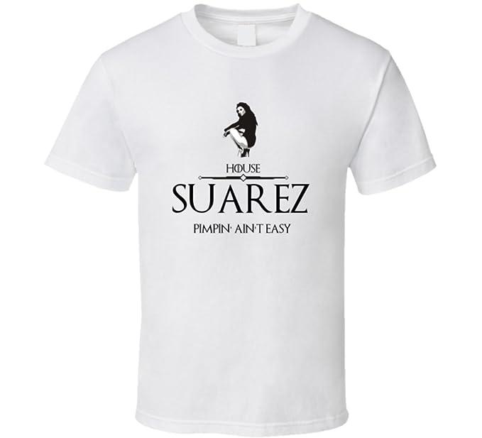 Juego de Tronos Pimp Sigil Casa Suárez Weed de apellido de T Shirt: Amazon.es: Ropa y accesorios