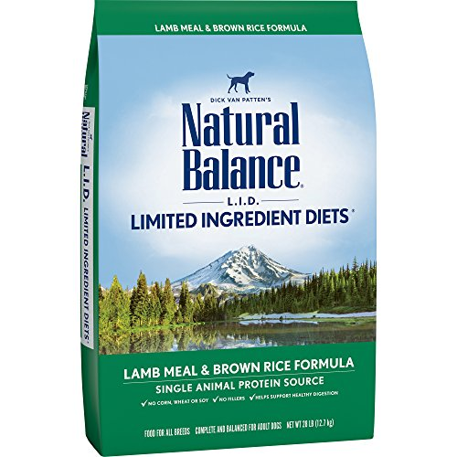 (Natural Balance L.I.D. Limited Ingredient Diets Dry Dog Food, Lamb Meal & Brown Rice Formula, 28-Pound)