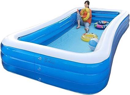 Household 3-Ring Inflatable Children/'s Swimming Pool Tub for Kids Backyard