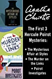 Front cover for the book Poirot Investigates by Agatha Christie