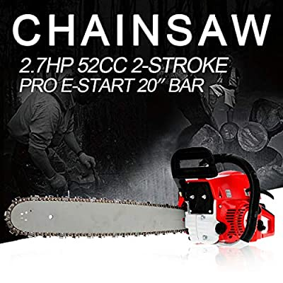 Morocca 52cc 20'' Saw Blade Petrol Chainsaw Outdoor Garden Yard Durable