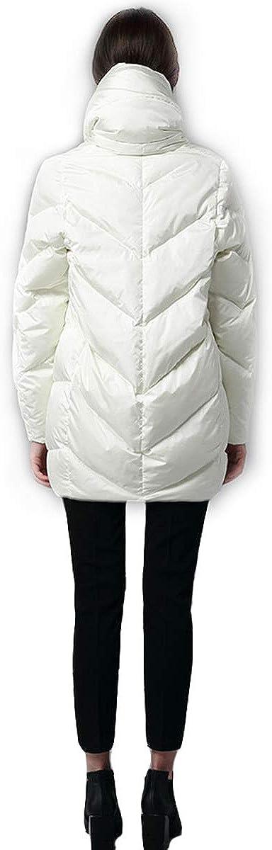 Winter Womens Down Coat Cocoon Coat Hoodie Long Fashion White Duck Down Filler