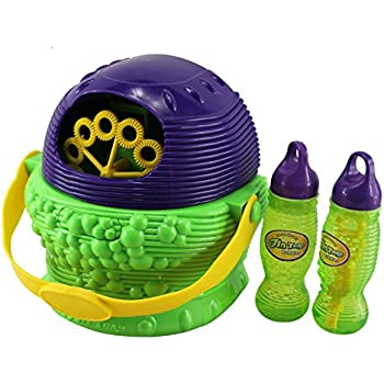 Babrit Bubble Machine Automatic Battery Powered Large Party Bubble Machine(Extra bonus bubble solution)-Updated Version