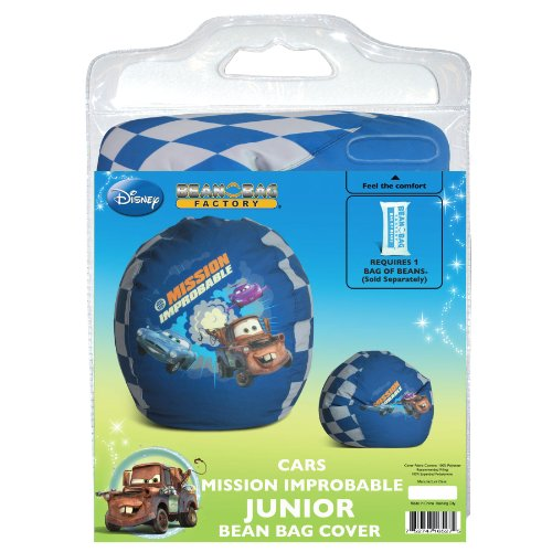 (Disney Cars Mission Improbable Junior Bean Bag Chair Cover)