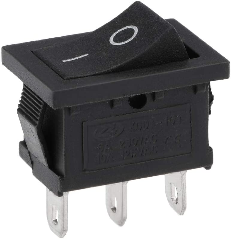 uxcell Mini Boat Rocker Switch Black Toggle Switch for Boat Car Marine 3pins ON//OFF AC 250V//6A 125V//10A