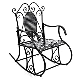 SONGMICS Retro Metallic Garden Rocking Chair GRC101B