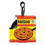 Nestle Toll House Individual-Size Chocolate Chip ''Pizza Cookie'' Kit: Includes Cookie Mix and Mini Cast Iron Skillet for Fun, Tasty Personal Dessert for Birthdays, Special Occasions, or Just Because