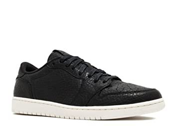 Nike Mens Air Jordan 1 Retro Low Swooshless No Swoosh Black - Sail US 9 3c8e92731429