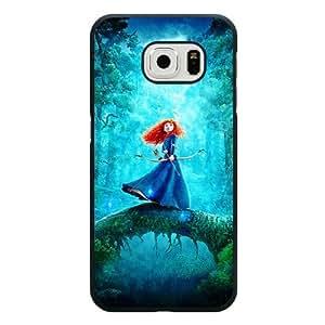 Samsung Galaxy S6 Case, Customized Disney Brave Princess Merida Black Hard Shell Samsung Galaxy S6 Case, Brave Galaxy S6 Case(Not Fit for Galaxy S6 Edge)