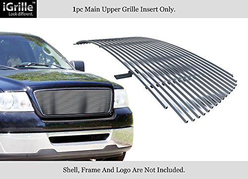 APS 304 Stainless Steel Main Upper Billet Grille Compatible with 2004-2008 Ford F-150 F85350C