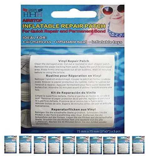 3-H Reparatiepatches, zelfklevende reparatiepleisters, TPU-sticker, waterdicht, voor tents, opblaasbaar, 7,5 x 7,5 cm