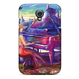 Quality Coverdistr1996 Cases Covers With Piano Play Nice Appearance Compatible With Galaxy S4