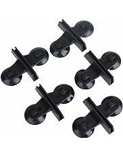UEETEK 5 pezzi di supporto per divisori in plastica con ventosa per acquario