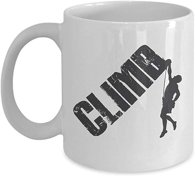 Taza de regalo de café y té de escalada en roca Rappelling ...