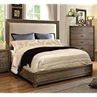 247SHOPATHOME Idf-7615EK Bed-Frames, King, Oak