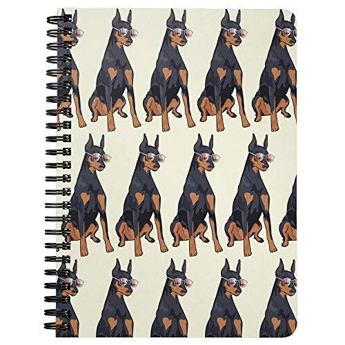 Doberman Pinscher Dog Wirebound Spiralbound Journal Diary Composition Notebook, Dog Lover Mom Dad Gifts 9175A ()