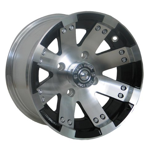 "Price comparison product image Vision 158 Buckshot Gloss Black Wheel with Painted Finish (12x7""/4x156mm)"