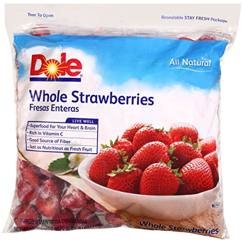 Dole Strawberries Whole, 5 lb, (2 count) by Dole Frozen