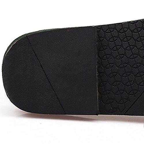 Color Tamaño Verde de de UK5 sandalias Negro gamuza tacón opcional Versión C sandalias Zafiro Sandalias Zapatilla Sandalias coreana al de libre Verano moda 5 tamaño bajo Zapatillas EU38 Color aire wBTSgnzq