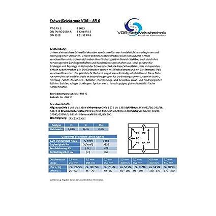 E-6013-1,0 Kg Schwei/ßelektroden Stahl Universal RR-6-1,6 x 250 mm