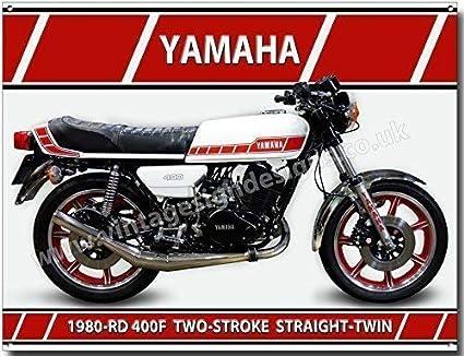 Yamaha RD 400F quality metal sign