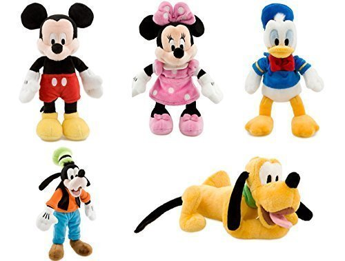 Disney Store Deluxe Plush Bean bag Mickey Mouse and Friends Set Mickey Minnie Donald Pluto Goofy Disney Mickey Mouse Plush