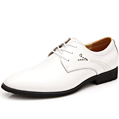 REETENE Men's Lace Up Oxford Business Office Wedding Dress Shoes for Men