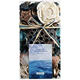 Qingbei Rina Gifts Ocean Scent Potpourri Box Perfume Satchet Home Fragrance Decoration Christmas Aroma Gift Decorative Filler for 48fl-oz Bowl and Vase (Blue)