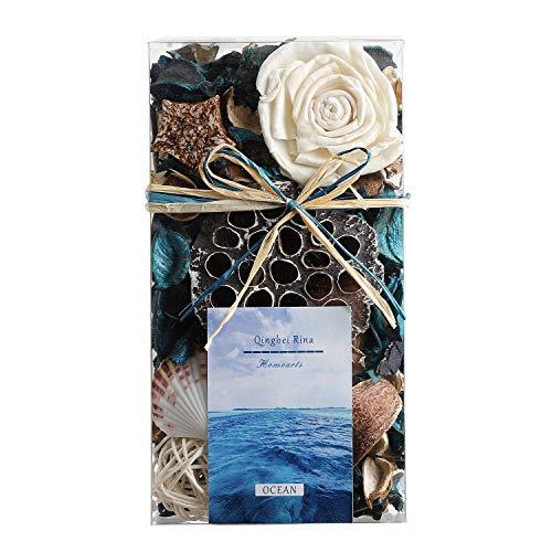 Qingbei Rina Gifts, Scent Potpourri Box, Perfume Satchet in PVC Box.Home Decoration, 10.2oz (Blue)