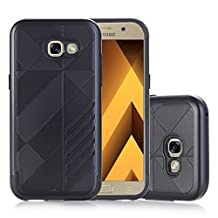 MOONCASE Galaxy A5 2017 Case Hybrid Armor Tough Rugged [Anti Scratch] Dual Layer TPU +PC Frame Protective Case Cover for Samsung Galaxy A5 2017 Black