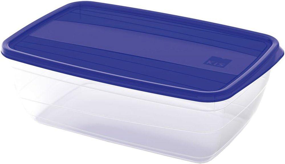 Kis 6069400 0378 03 Boite pour Aliments Vedo 4 litres en Transparent Bleu Plastique 29x20x10 cm