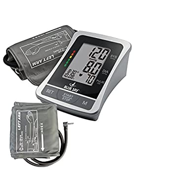 """ The Perfect Measure"" Deluxe Blood Pressure Monitoring Kit-2 Cuffs Included Standard Adult & Large Adult, Batteries & AC Adapter Included"