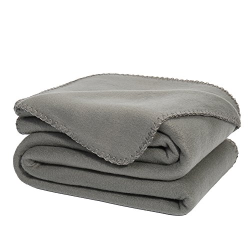 Best Deals! Super Soft Oversized Fleece Throw Blanket GRAY Ultra Cozy Throw Light Weight Cozy Microf...