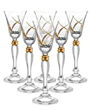 Glazze Crystal RMC-078-GL Cordail Liquor Glasses, 7″ Height, 2 oz, Gold Review