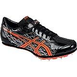 ASICS Men's Long Jump Pro Track Shoe, Black/Flash Coral/Silver, 13 M US
