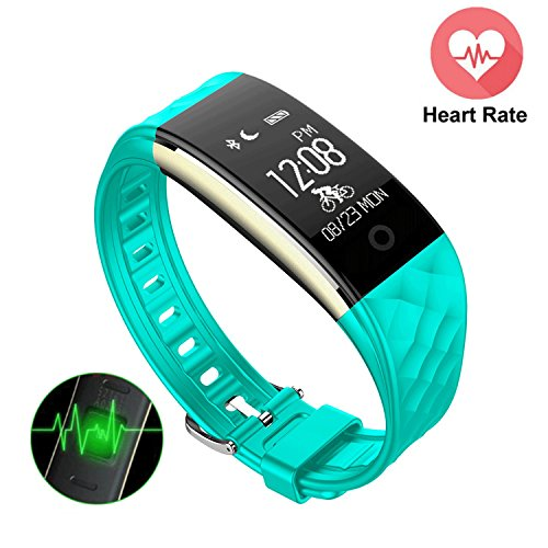 S2 Fitness Tracker Heart Rate Monitor – Mini Kitty Upgrade Version Smart Wristband IP67 Waterproof Swimming,GPS Bicycling Tracker Bluetooth Bracelet For Android IOS Phone,IPad(Green)