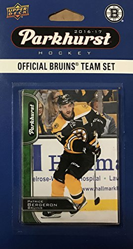 Boston Bruins 2016 2017 Upper Deck PARKHURST Series Factory Sealed 10 Card Team Set including Patrice Bergeron, Tuukka Rask, Zdeno Chara plus Bruins Hockey Card