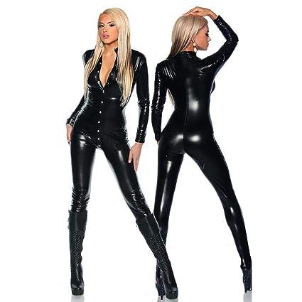 Abito Da Donna Catwoman Latex Catsuit In Vinile Tuta Clubwear Intimo In  Pelle Sexy 2924a7a5debf