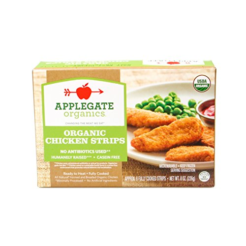 Organic Chicken Strips - Applegate Farms Organic Chicken Strips, 8 Ounce (Pack of 12)