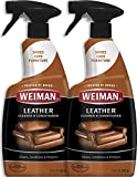 Weiman Leather Cleaner & Conditioner - 22 fl. oz. [2 Pack] - Non Toxic Restores Leather Surfaces - UV Protectants Help Prevent Cracking or Fading of Leather Furniture, Car Seats, Shoes