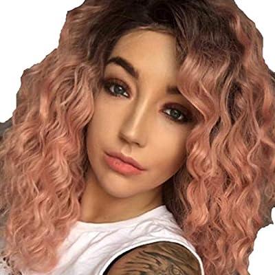 SMILEQ Peluca de Mujer Frente de Moda Peluca de Encaje Corta Onda ...