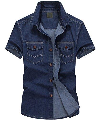 Button Up Cotton Jeans - 9