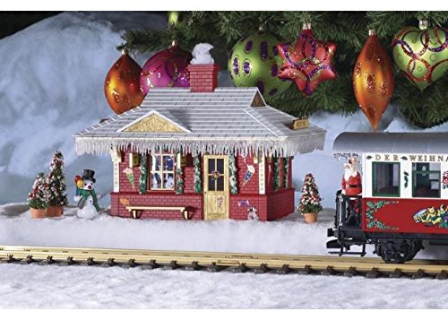 (PIKO G SCALE MODEL TRAIN BUILDINGS - NORTH POLE STATION (BUILT-UP) - 62265)