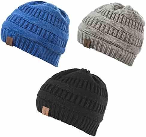 3cf9a879877ebc REDESS Baby Boy Winter Warm Fleece Lined Hat, Infant Toddler Kids Beanie  Knit Cap Girls