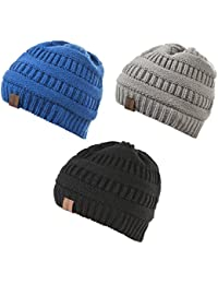Baby Boy Winter Warm Fleece Lined Hat, Infant Toddler Kids Beanie Knit Cap for Girls and Boys [0-3years]