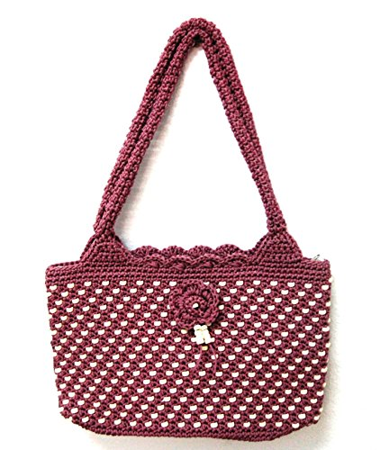 Handmade Crochet Purse Office Work Shoulder Shopping Tote Beach Handbag Knitted Bag for Women