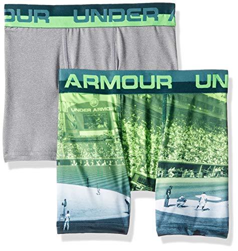 (Under Armour Boys' Big 2 Pack Sublimation Print Performance Boxer Briefs, Batik-S19, YSM)