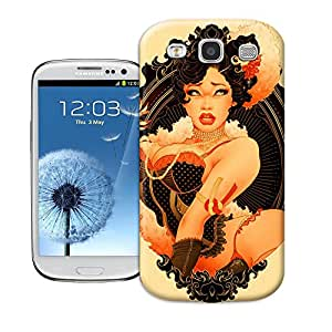 BreathePattern-155.A Buxom Girl Plastic Protective Case-Samsung Galaxy S3 case