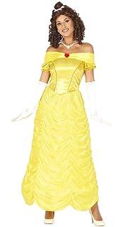 6ba2850ec0f9 Guirca Costume Belle Bella Bestia Donna Adulta Taglia M 38-40, Colore  Giallo,